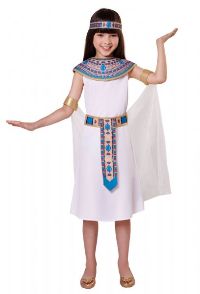 Girls Egyptian Girl Costume Ancient Pharaoh Egypt Fancy Dress Outfit